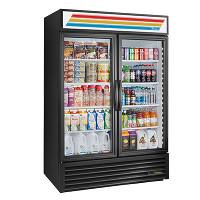 2 Section Glass Door Merchandiser Refrigerator