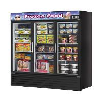 3 Section Glass Door Merchandiser Freezer