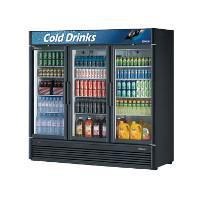 3 Section Glass Door Merchandiser Refrigerator
