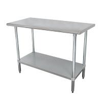 16 Gauge Standard Duty Top Work Tables with Undershelf
