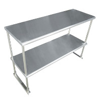 Table-Mounted Stainless Steel Shelving Units