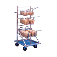 Mobile Fry Basket Racks