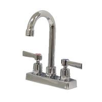 Deck Mount Faucets with Gooseneck Nozzles