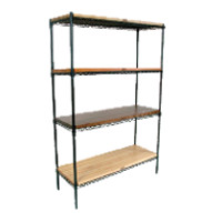 Solid & Wire Shelving