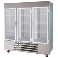 Glass Door Combination Refrigerators / Freezers
