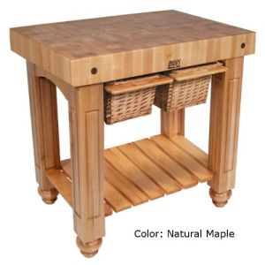 John Boos CU-GB3624N American Heritage Gathering Block Butcher Block Table 24