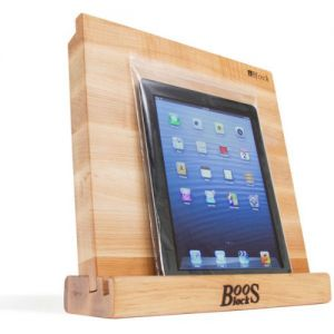 John Boos I-BLOCK Maple Cutting Board and Stand for Tablet