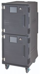 Cambro PCUCH615 Front Loading Electric Pro Cart Ultra Hot / Cold Food Pan Carrier - 110 Volts