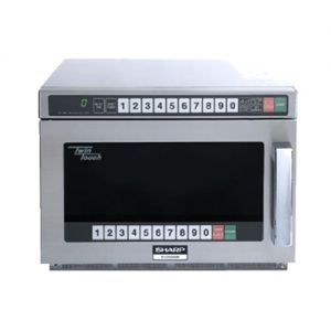 Sharp R-CD1200M 1200 Watt TwinTouch Commercial Microwave Oven with 4-Stage Cooking