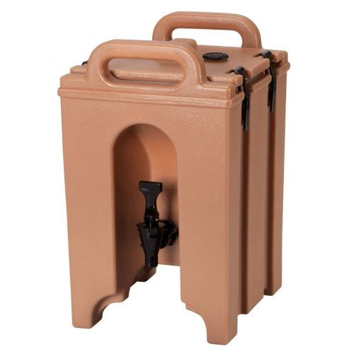 Cambro 100LCD157 1-1/2 Gallon Camtainer Beverage Carrier (Coffee Beige)