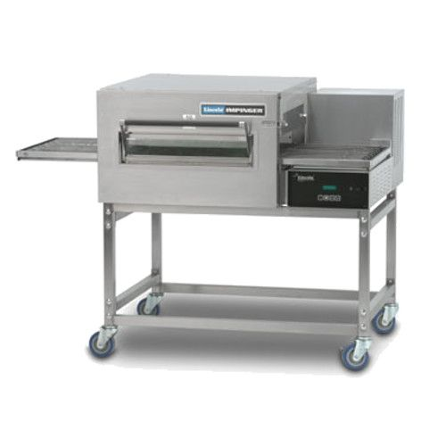 Lincoln 1131-000-V Front Loading Single Deck Impinger II Express KNLZ Rated Ventless Conveyor Pizza Oven - 120/240 Volts