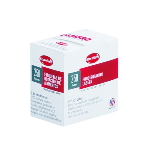 Cambro 1252SLB250 StoreSafe Food Rotation Labels