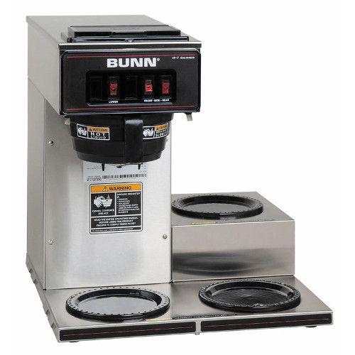 Bunn 13300.0003 VP17-3 Pourover Coffee Maker - Stainless Decor
