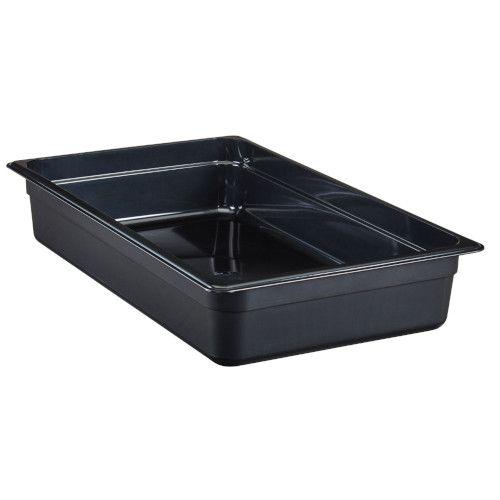 Cambro 14HP110 H-Pan Black High Heat Full Size Food Pan (6 per case)