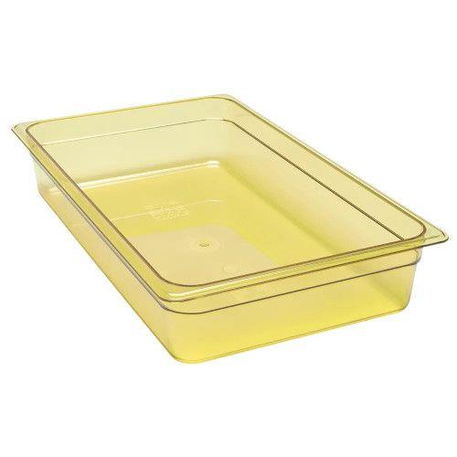 Cambro 14HP150 H-Pan Amber High Heat Full Size Food Pan (6 per case)