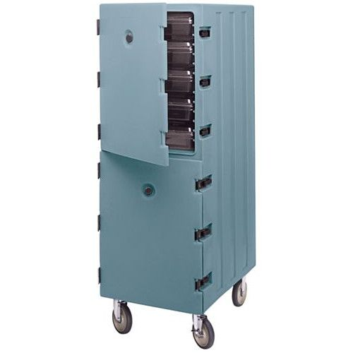 Cambro 1826DBC401 Double Cavity Enclosed Camcart(Slate Blue)