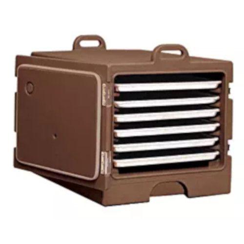 Cambro 1826MTC131 Camcarrier 6 Capacity Tray & Sheet Carrier (Dark Brown)