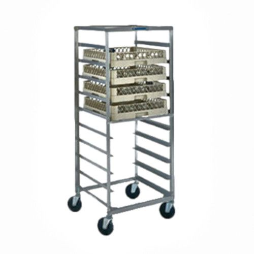 Lakeside 198 Glass & Cup Rack Transport Cart with 5