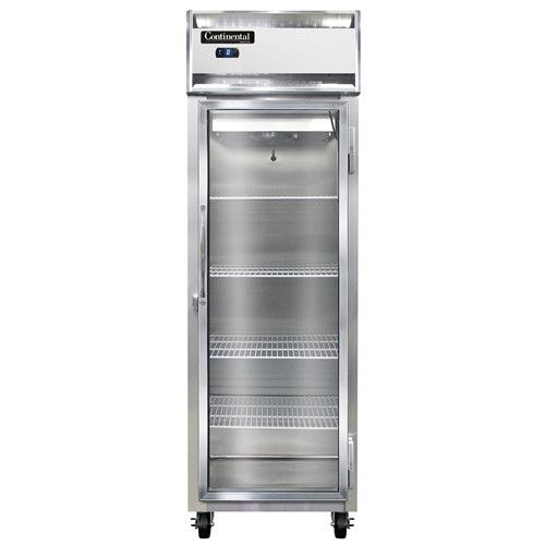 Continental Refrigerator 1F-GD Glass Door Reach-In One-Section Freezer
