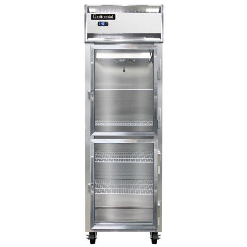 Continental Refrigerator 1F-LT-GD-HD Glass Half Door Low Temp Reach-In Freezer