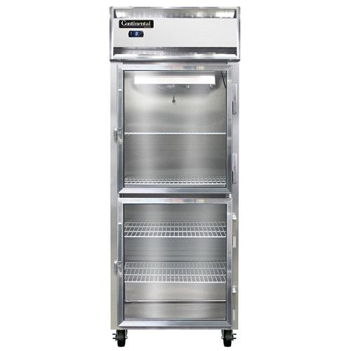 Continental Refrigerator 1FE-GD-HD Reach-In Freezer with Half-Height Glass Doors