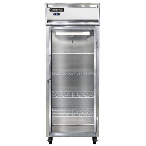 Continental Refrigerator 1FES-SA-GD Extra-Wide Shallow Depth Reach-In Freezer with Glass Door