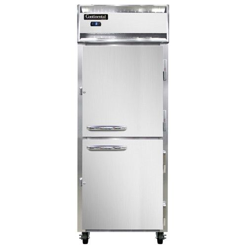 Continental Refrigerator 1FE-SS-HD Extra-Wide Stainless Steel Reach-In Freezer