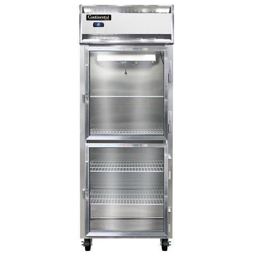 Continental Refrigerator 1FE-LT-SA-GD-HD Glass Door Low Temp Reach-In Freezer