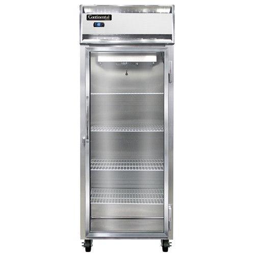 Continental Refrigerator 1FE-LT-SS-GD Extra-Wide Glass Door Reach-In Freezer