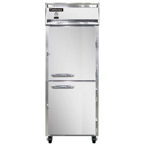 Continental Refrigerator 1FE-LT-SS-HD Extra-Wide Low Temp Reach-In Freezer