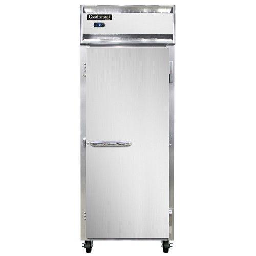 Continental Refrigerator 1FES-SA Extra-Wide Shallow Depth Reach-In Freezer