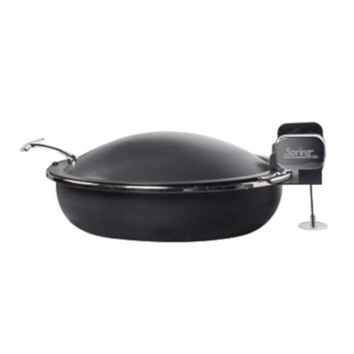 Spring USA 2382-88/36 Titanium Seasons Induction Sauteuse Chafing Dish w/ Black Pearl Accents