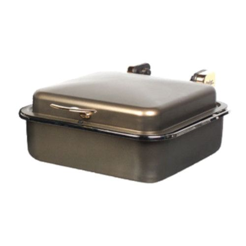 Spring USA 2384-597 Bronze Seasons Induction Buffet Server with Gold Accents