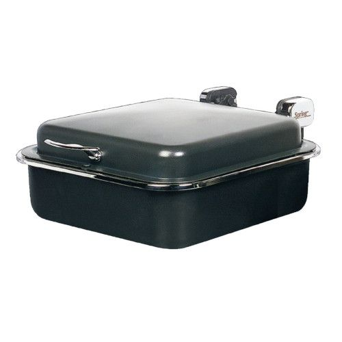 Spring USA 2384-897 Titanium Seasons Induction Buffet Server with Gold Accents