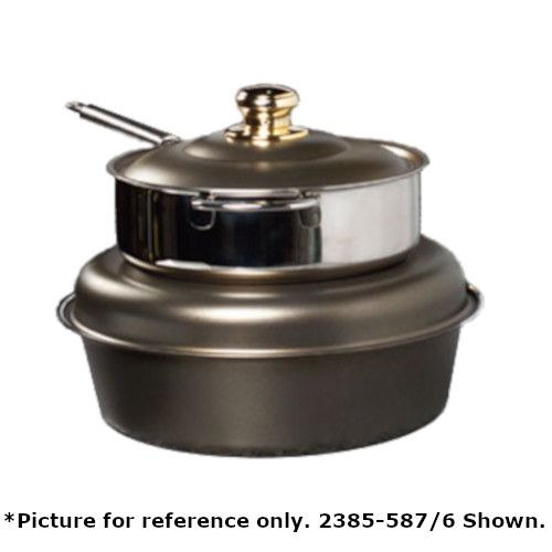Spring USA 2385-587/6 Seasons Induction Soup Tureen - Black Pearl Accents