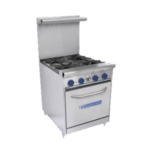 Bakers Pride Restaurant Series 24-BPV-4B-S20 Natural Gas 4 Burner Range with Standard 20