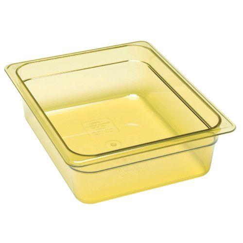 Cambro 24HP150 H-Pan Amber High Heat Half Size Food Pan (6 per case)
