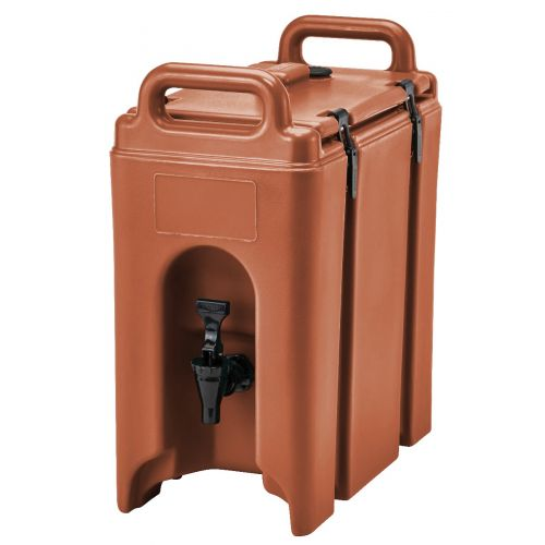 Cambro 250LCD402 2-1/2 Gallon Camtainer Beverage Carrier (Brick Red)