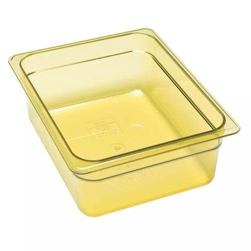 Cambro 26HP150 H-Pan Amber High Heat Half Size Food Pan (6 per case)