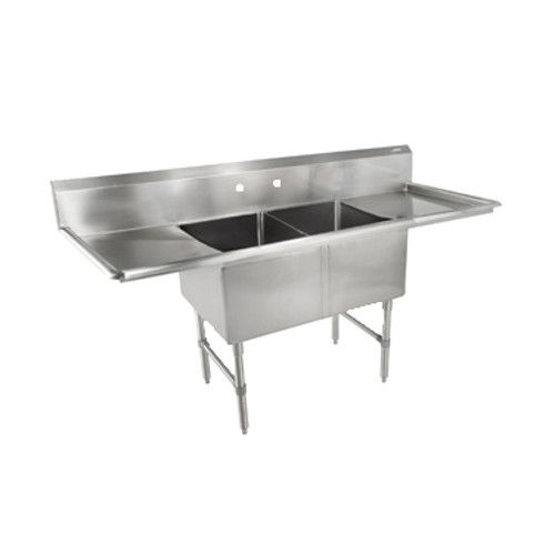 John Boos 2B18244-2D18 Two-Compartment Sink with Two 18