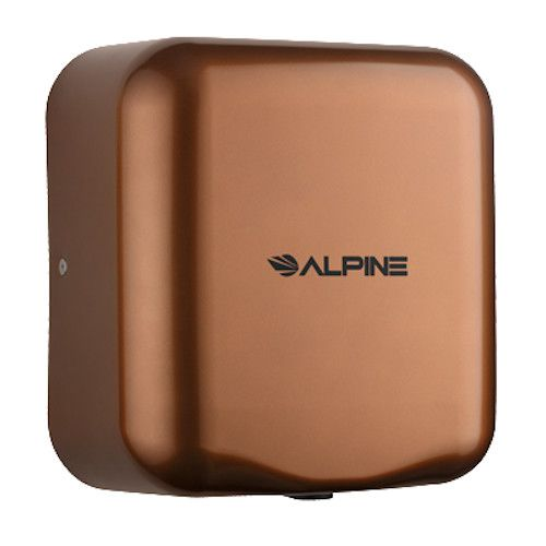Alpine 400-10-COP Hemlock Hand Dryer with Coffee Finish