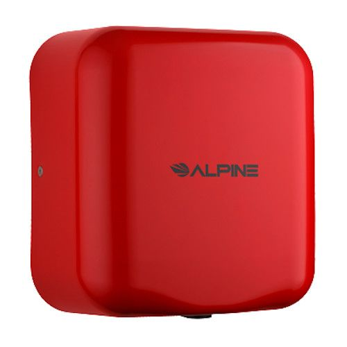 Alpine 400-10-RED Hemlock Hand Dryer with Red Finish