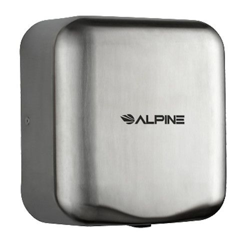 Alpine 400-20-SSB 220-240 Volt Hemlock Hand Dryer with Brushed Finish