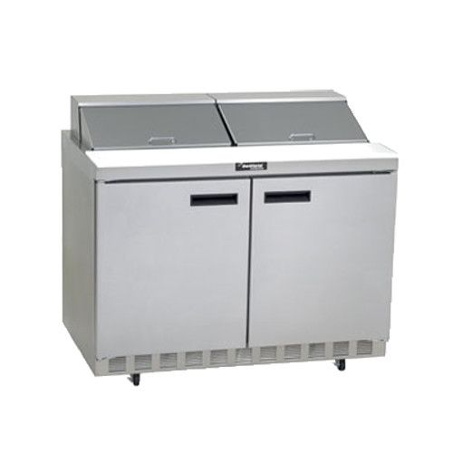 Delfield 4448N-12 Sandwich / Salad Refrigerated Two-Section Prep Table