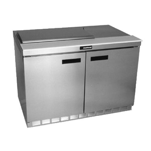 Delfield 4448N-8 Sandwich / Salad Refrigerated Two-Section Prep Table