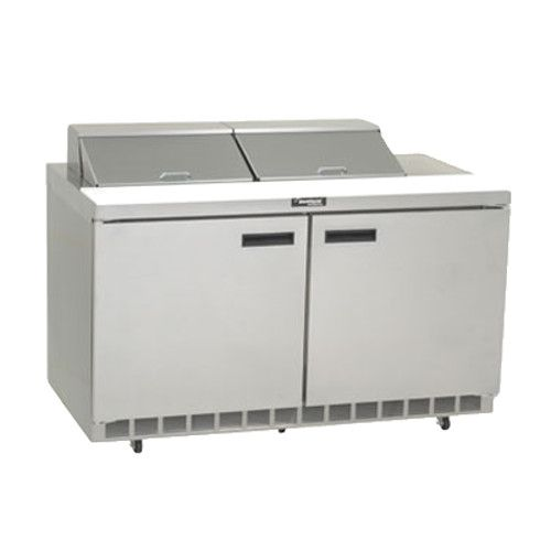 Delfield 4460N-12 Sandwich / Salad Refrigerated Two-Section Prep Table