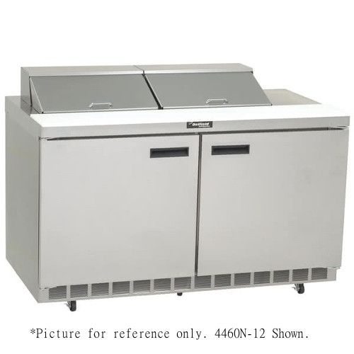 Delfield 4460N-8 Sandwich / Salad Refrigerated Two-Section Prep Table