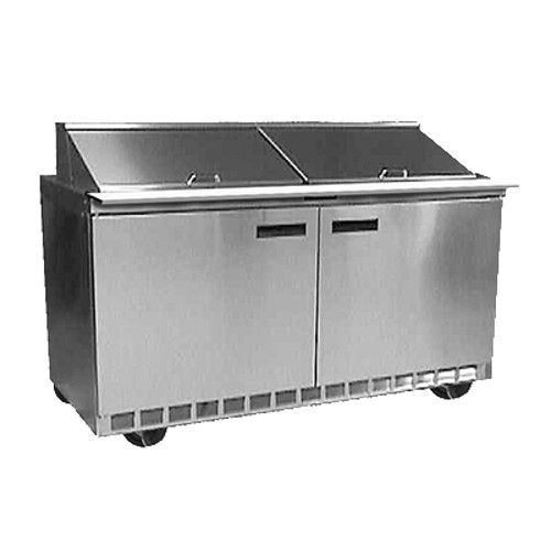 Delfield 4464N-12 Sandwich / Salad Refrigerated Two-Section Prep Table