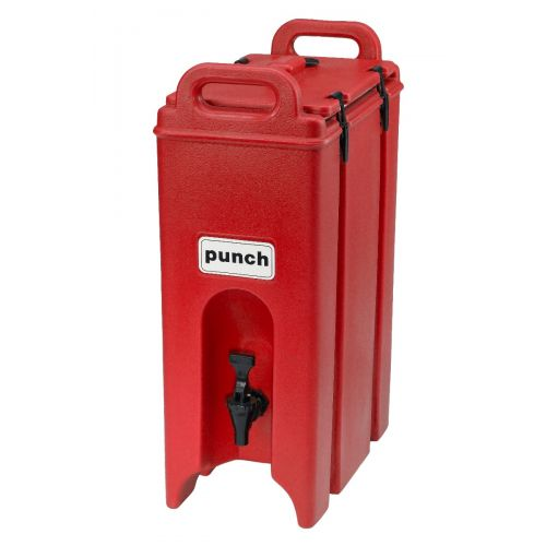 Cambro 500LCD158 4-3/4 Gallon Camtainer Beverage Carrier (Hot Red)