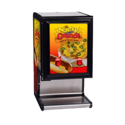 Gold Medal 5301 El Nacho Grande Dual Cheese & Chili Dispenser